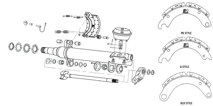 Dexter Air Brake Parts Illustration