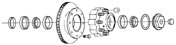 Dexter 10K Axle Disc Brake Parts Illustration