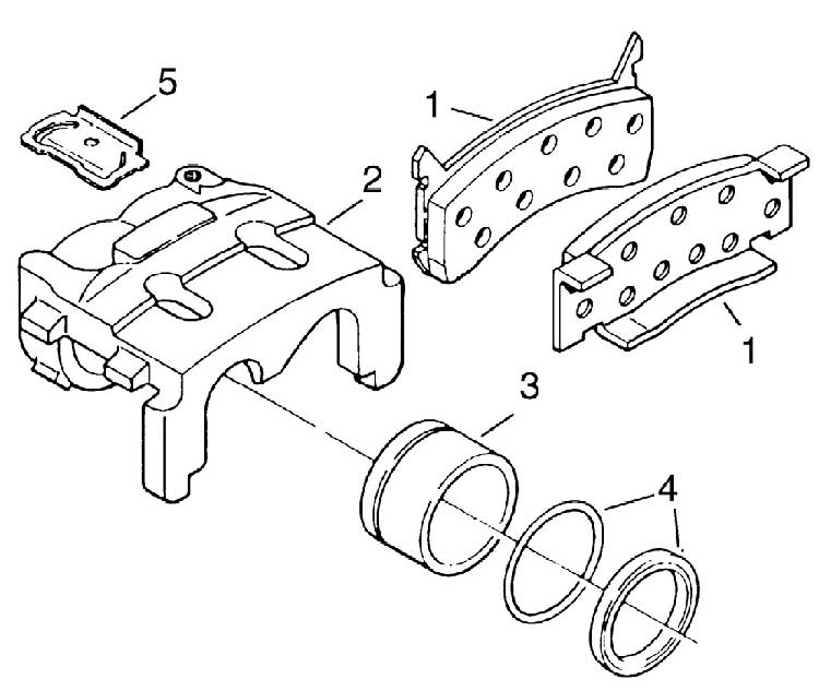 Hayes/Al-KO 10-12K Axle Disc Brake Caliper Parts Illustration