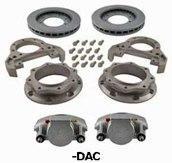 Kodiak Dexter/Lippert 10K Axle Dual Wheel Leaf Spring Suspension  Dacromet coated Disc Brake Kit