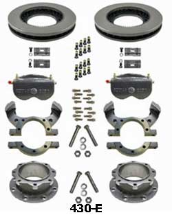 Kodiak Dexter/Lippert 10K Axle Dual Wheel Leaf Spring Suspension  430 Hub Disc Brake Kit