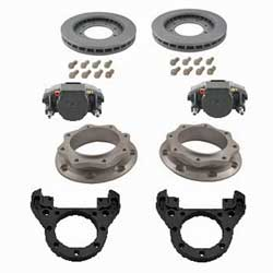 Kodiak Dexter/Lippert 10K Axle Dual Wheel Leaf Spring Suspension Automotive/E-coated Disc Brake Kit