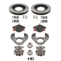 Kodiak Rockwell American 10K Axle Single Wheel Torsion Suspension HD Disc Brake Kit