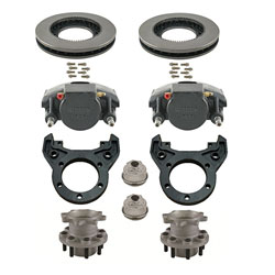 Kodiak Rockwell American 10K Axle Single Wheel Torsion Suspension Automotive/E-coated Disc Brake Kit