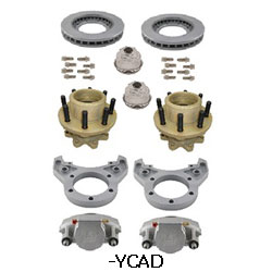 Kodiak Rockwell American 10K Axle Single Wheel Torsion Suspension Dacromet Disc Brake Kit 4.75 Pilot