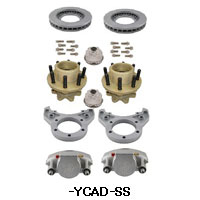 Kodiak Rockwell American 10K Axle Single Wheel Torsion Suspension Dacromet/Stainless Steel Disc Brake Kit 4.75 Pilot