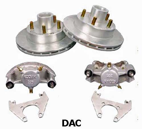 Kodiak 3.5K 10 Inch Integral Hub/Rotor Dacromet Disc Brake Kits