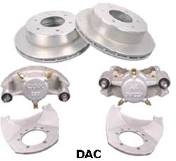Kodiak 5.2-6K 12 Inch Slipover Rotor Dacromet Disc Brake Kits
