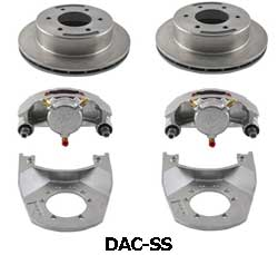 Kodiak 5.2-6K 12 Inch Slipover Rotor Dacromet/Stainless Steel Disc Brake Kits