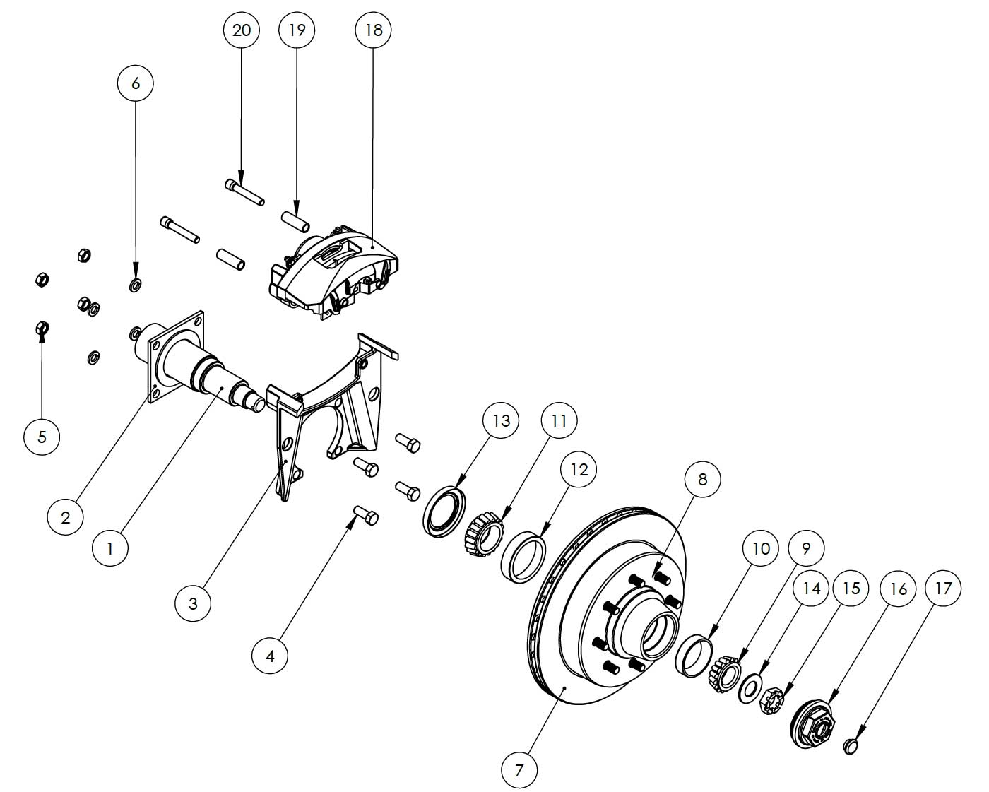 Kodiak 8k 13 inch integral hubrotor disc brake kits and replacement kodiak 8k 13 inch hubrotor integral disc brake parts illustration for al ko publicscrutiny Gallery