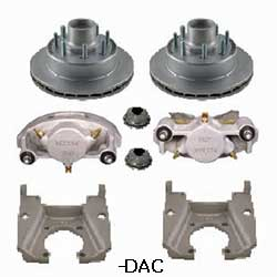 Kodiak Dexter/Lippert 8K 13 Inch Integral Dacromet Disc Brake Kits