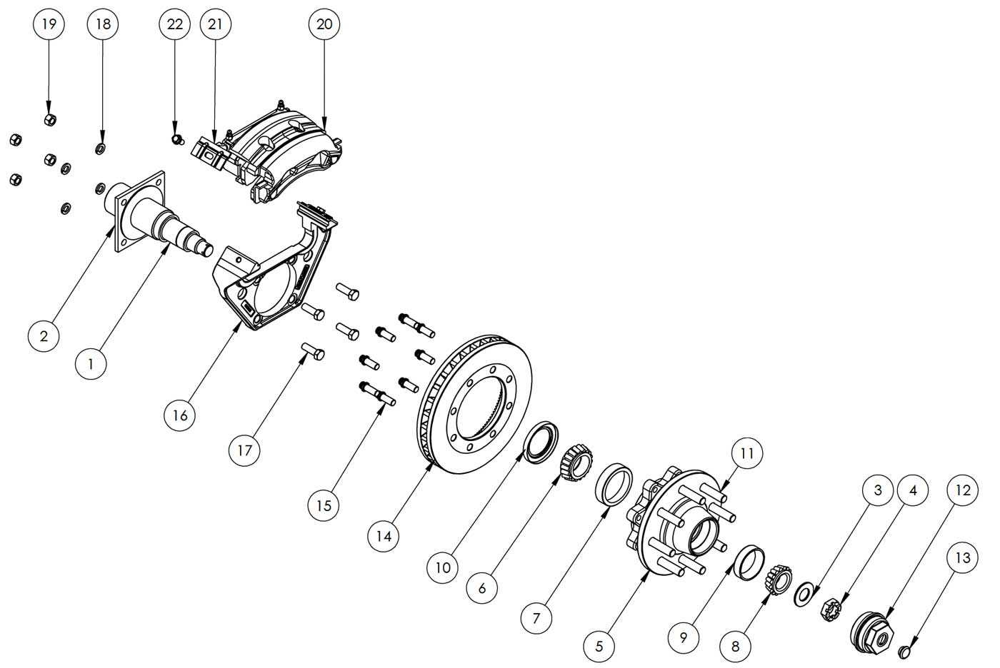Kodiak 8k hd 116 inch rotor disc brake kits and replacement parts kodiak al korockwell 8k hd 116 inch disc brake parts illustration publicscrutiny Gallery