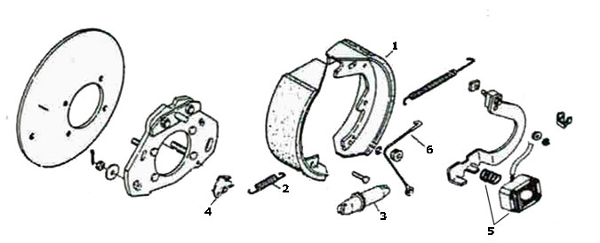 Hayes 12 x 3 3/8 Inch Electric Brake Parts Illustration