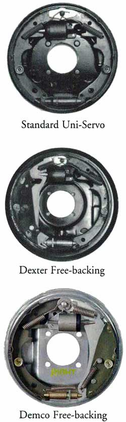 Dexter and Demco 10 x 2 1/4 Inch Hydraulic Brake Assemblies