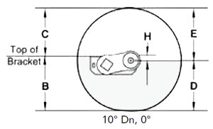 Dexter Torflex Axle Full Load Dimensions