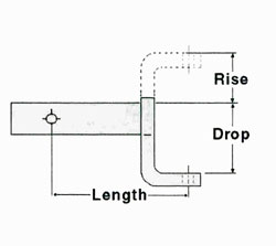 Ball Mount Rise And Drop Measurements