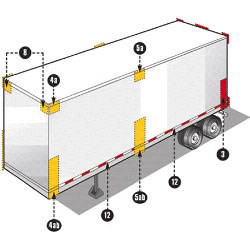 Federal Trailer Lighting Specification Area 3, 8, 4a-b